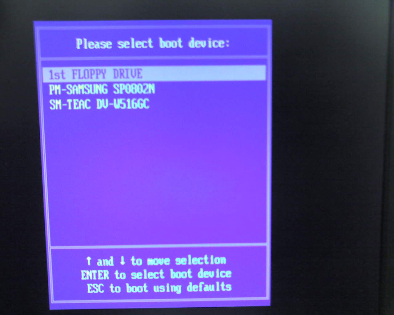 Как сделать загрузочную дискету биос